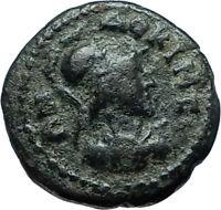Laodikeia in Phrygia 50AD Authentic Ancient Greek Coin ATHENA & MOUNTAIN i66168