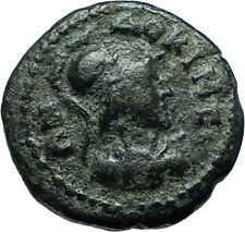 Laodikeia in Phrygia 50AD Authentic Ancient Greek Coin ATHENA & MOUNTAIN i66168