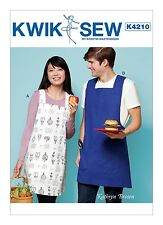 Kwik Sew Sewing Pattern Pullover Unisex Aprons Criss-cross Straps & Patch K4210