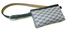 MICHAEL KORS Fanny Pack Belt MK Logo Bag 551749C Gray Black Size Medium $68+