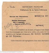réquisition d'un immeuble rue Thiers à Eu par l'armée allemande ww2