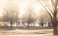 Darien Wisconsin~Beloit Street Homes~Porches~Woodpile~Dirt Road~1915 RPPC