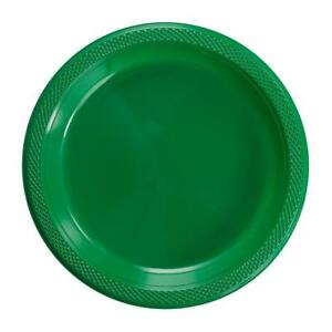 """Plastic Disposable Plates -Vibrant Solid Colors Luncheon Dinner Party 7"""" 9"""" 10"""""""