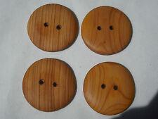 One Handmade Yew Timber Button, 30mm Round, Item 224