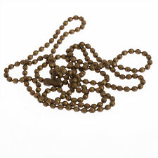 "Gold silver bronze Metal Chain Necklace Ball Chain Bead Connector long 28"" 1pcs"