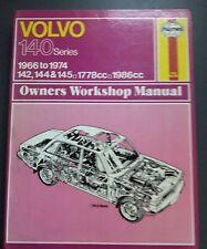 HAYNES WORKSHOP MANUAL FOR VOLVO 140 SERIES 1966 TO 1974. 142,144 & 145 MODELS