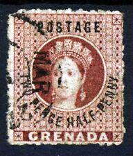 GRENADA QV 1881 2½d. Rose-Lake Surcharged VARIETY NO STOP SG 22c VFU