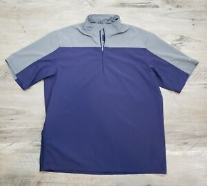 Mizuno Performance Short Sleeve Shirt 1/4 Zip Pullover Size L