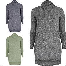 Hüftlange Damen-Pullover & -Strickware aus Polyester mit Rollkragen