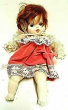 """Horseman Doll 1969 Doll 15"""" Pink Bonnet Victorian Style Red Hair White Skin Lace"""