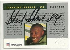 1992 Pro Line Portraits STERLING SHARPE Certified Authentic Auto Packers