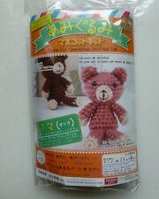 New Daiso Japan Rose Pink Bear Amigurumi Crochet Plush Toy Diy Kit