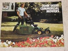 1984 JOHN DEERE 32, 36, 48, & 52 COMMERCIAL LAWN MOWERS BROCHURE