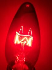 DURALUX Candle Bulb 15W 220-240V E14 Klar-Rot Bulb Illuminant Rustic