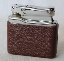 Vintage Collectible Colibri Gas Brown Lighter with Poutch