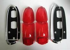 MG MGB 62-69 LUCAS TAIL LAMP LENS KIT -  UPPER & LOWER LENS, RIMS & GASKETS