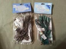 5 sets of 20 count white light string green wire Free Ship u