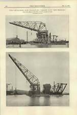 1920 200 Ton Floating Crane For The Mersey Werf Gusto