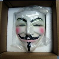 Halloween Guy Fawkes V FOR Vendetta Anonymous Mask Resin for Adult Cosplay Mask