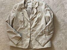 Ladies Beige Eastex Blazer Jacket - Size 12