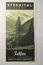 schönes altes Reiseprospekt Österreich / Tirol Stubaital Telfes