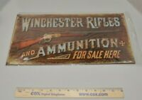 Winchester Rifles and Ammunition for Sale Here Metal Sign Tin Tacker