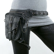 Women Steampunk Retro Motorcycle Shoulder Bag Hip Pouch