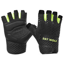 Weight Lifting Fitness Workout Gloves Bodybuilding Gym Exercise Wrist Strap