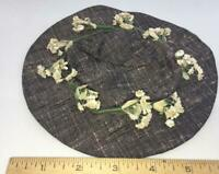 Vintage Hat  wreath tiny cotton flower salvage piece old Dolls Floral Millinery