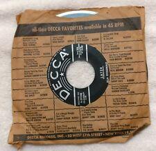 45rpm Vinyl, Decca Records. Ella Fitzgerald. Lullaby Of Birdland/Later
