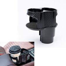 1PC Car Cup Holder Drink Bottle Bracket  Organizer Storage Box Carbon Fiber Look