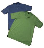 Peter Millar Summer Comfort Men's Golf Polo Shirts Men`s XL Lot Of 2 Green Blue