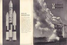 1962 UNITED AIRCRAFT BEE HIVE   EMPLOYEE NEWSLETTER SPACE PILOTS VERY GOOD COND