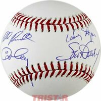 Steve Garvey, Bill Russell, Davey Lopes & Ron Cey Autographed Baseball TRISTAR