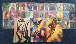 Marvel Comics Marvel Masterpieces, 1993. Full 90 Card Set and Artwork Books