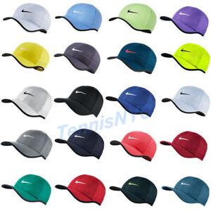 NIKE Featherlight Tennis Running Hat Cap Swoosh Dri-Fit Adjustable 679421