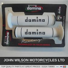 Yamaha MT-03 660 White & Black Domino Handlebar Grips