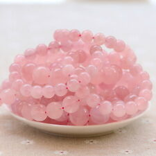 Natural 6mm Gorgeous Rose Quartz Healing Crystal Stretch Beaded Bracelet Jewelry