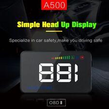 """A500 Windscreen Car Head Up Display 3.5"""" HUD OBD II ODB2 MPH KMH Speed Warning"""