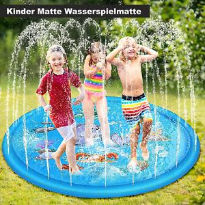Kinder Wasserspielmatte Sommer 170cm Sprinkler Anti-Rutsch Wasserspielzeug DE