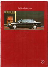 Mercedes-Benz 190 1989-91 UK Market Sales Brochure E 2.0 2.6 D 2.5 D