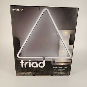 "Triad 12"" LED Neon Lamp Merkury Innovations | Triangle Shaped Light"