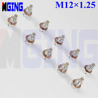 M12X1.25 Engine Magnetic Oil Pan Drain Plug Blot Kit + Crush Washer Sliver 10PCS
