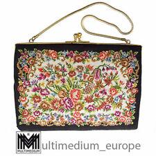 Needlework Hand Tasche Abendtasche Petit Point Stickerei 50er 60er 🌺🌺🌺🌺🌺