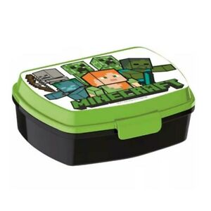 Porta merenda verde Minecraft in plastica alimentare Lunch Box da bambino