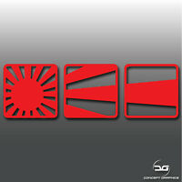 JDM Rising Sun Boxes Japan Flag Funny Japanese Jap Drift Car Vinyl Decal Sticker