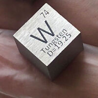 99.95% High Purity Tungsten W 10mm Metal Carved Element Periodic Table Cube