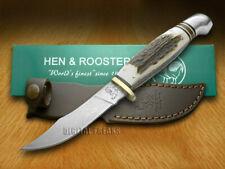 Hen & Rooster Genuine Deer Stag Damascus Hunter Knife 5048DAM Knives