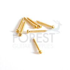 6 Set single coil pickup screws round head gold 3x25mm