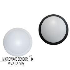LED Wall & Ceiling Bulkhead Light 12 Watts IP66 Microwave Sensor Available